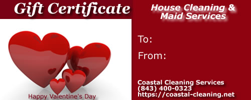 Valentines Day Gift Certificates in Myrtle Beach House Cleaning – Valentine Day Gift Cards